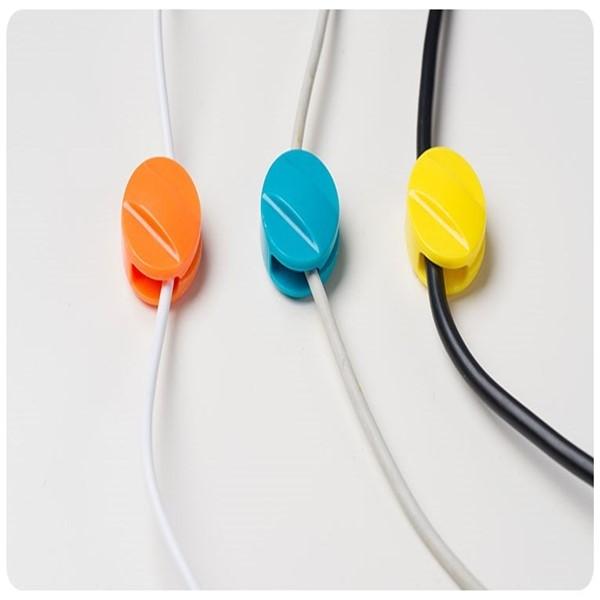 夾線器10枚入傳輸線充電線數據線電源線整理器糖果色固線器整線器理線器10入固線夾