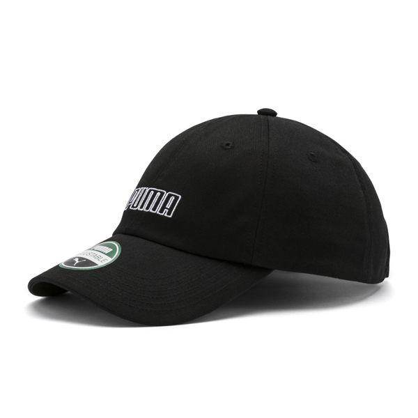 Puma Logo 運動帽 老帽 黑色 遮陽帽 六分割帽 6-Panel Cap 經典棒球帽 運動帽 電繡 02209501