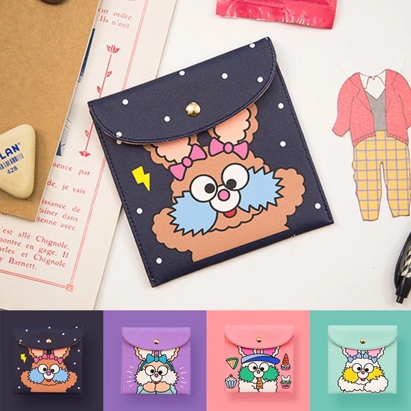 收納包-韓版可愛菲斯兔卡通人物衛生棉包錢包皮夾短夾-共4色-B290092-FuFu