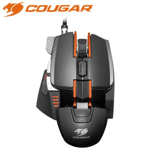 COUGAR美洲獅700M雷射電競滑鼠黑橘送線夾~7 31止