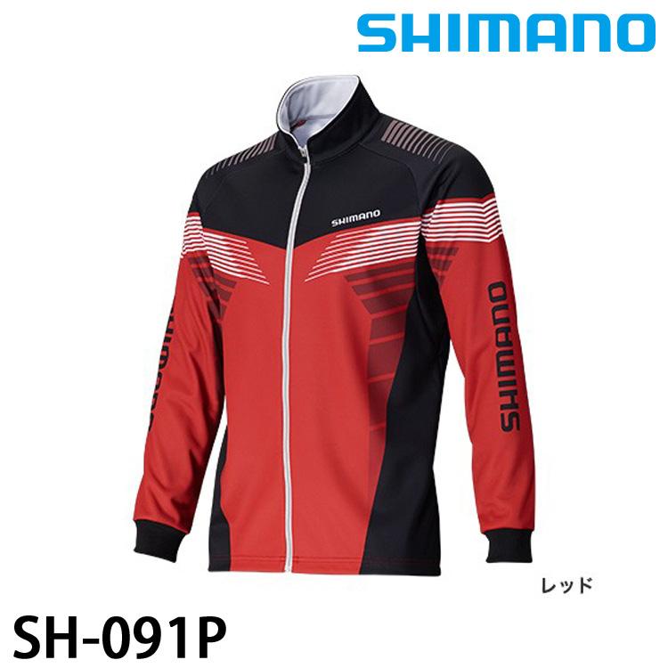 漁拓釣具SHIMANO SH-091P灰紅M L XL長袖上衣