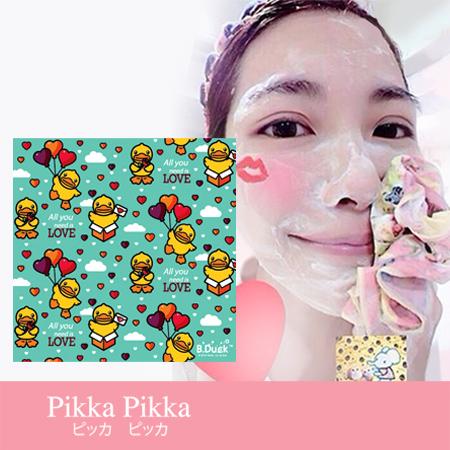 日本 Pikka Pikka 臉部毛孔潔淨布/黃色小鴨/B.Duck/A43 就是愛你鴨/林鴒/花猴分享 現貨/免運!
