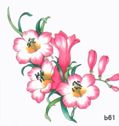 薇嘉雅 玫瑰花 超炫圖案紋身貼紙 b61