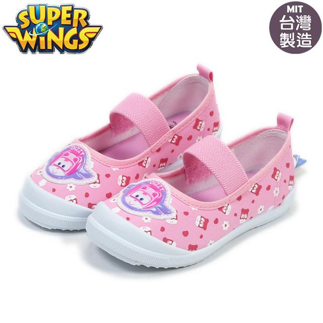 超級飛俠Super Wings蒂蒂兒童室內鞋.休閒帆布鞋.幼稚園必備粉16-20公分