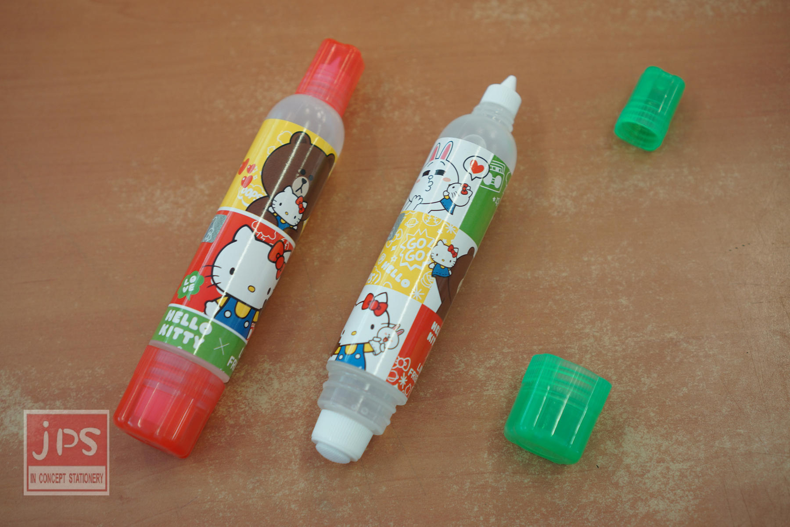 Hello Kitty×Line 大雙頭膠水 (紅&綠)