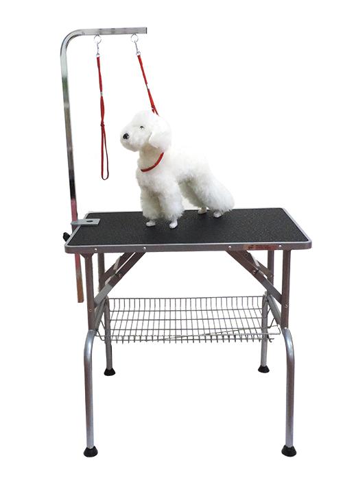 美國Kim Laube樂比M號專業寵物美容桌附置物底網和L型美容吊桿防滑桌面