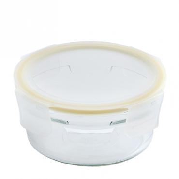 Glasslock耐熱強化無邊框保鮮盒圓形900ml