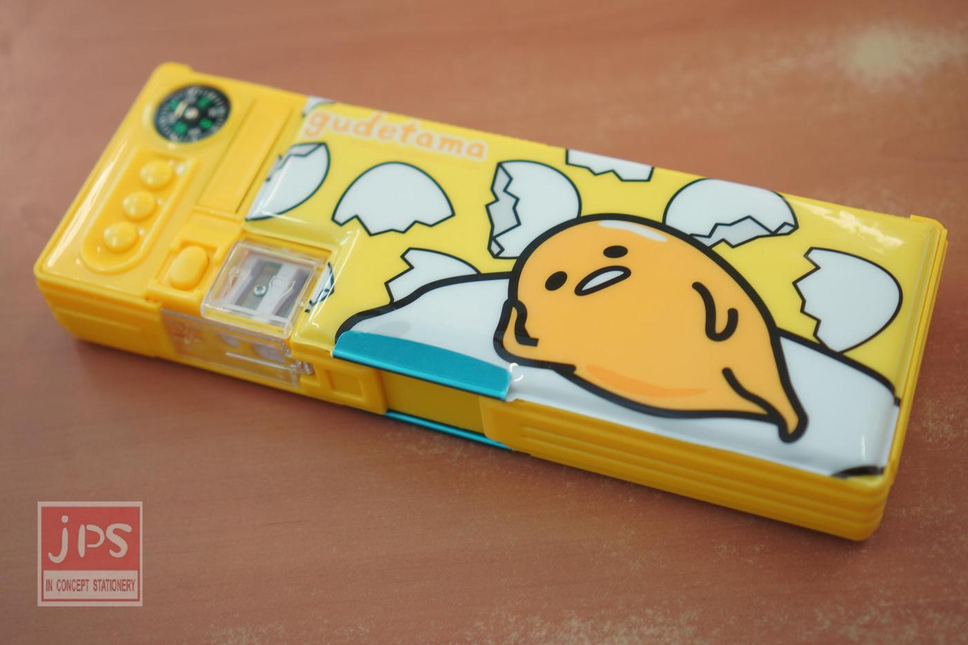 蛋黃哥四按鍵雙削筆盒蛋殼躺