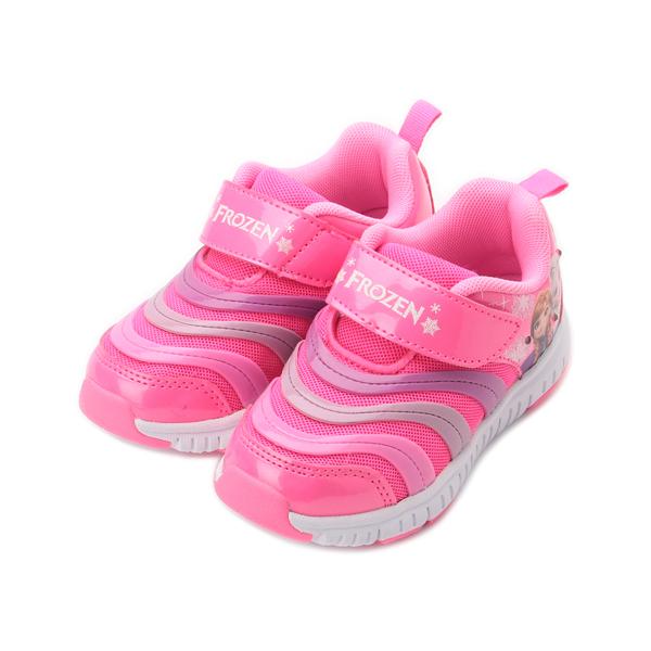 冰雪奇緣 毛毛蟲電燈運動鞋 桃紅 FOKX94442 中大童鞋 鞋全家福