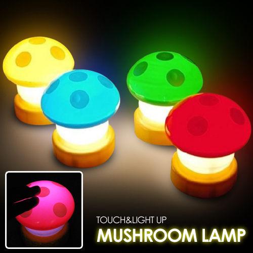 蘑菇拍拍燈香菇小夜燈床頭燈不挑色