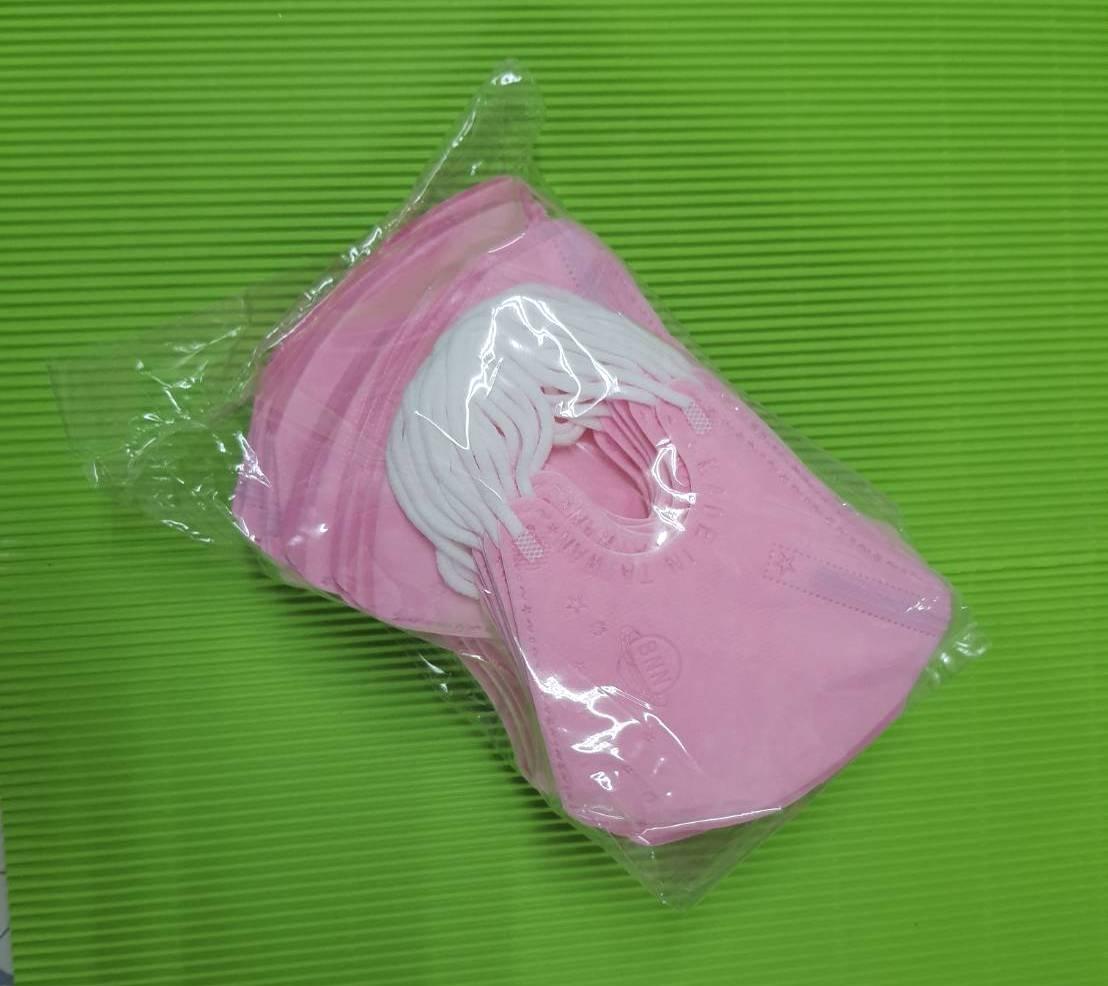 BNN超立體3D口罩@兒幼童-深粉紅色@中層熔噴 有壓條 一盒50片台灣製造SGS合格無痛耳帶 防飛沫佳