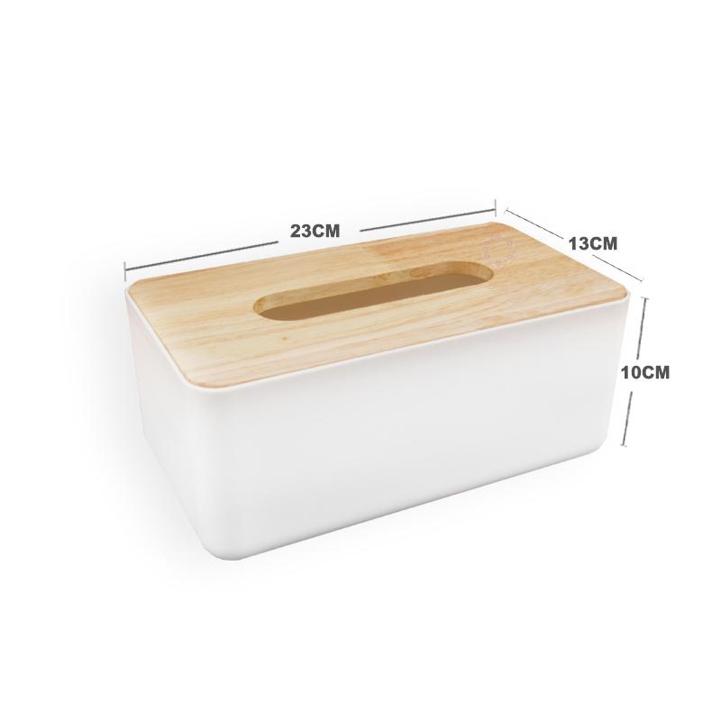 日式簡約面紙盒木質天然橡木創意收納盒A