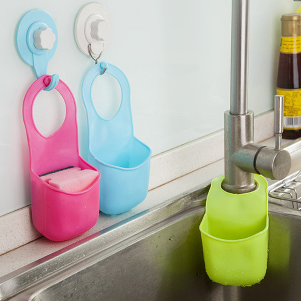 廚房浴室水龍頭掛式瀝水袋(1入)【小三美日】不挑色