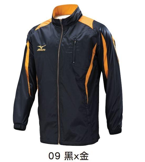 [陽光樂活] 美津濃 MIZUNO  (男)平織運動套裝-上衣外套  32TC608209 (黑x金)