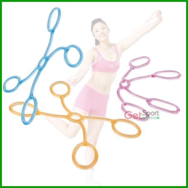 X型果凍繩(彈力繩/健美繩/拉力帶/伸展繩/抗力帶/拉繩/拉筋帶/瑜珈帶/腰酸背痛)