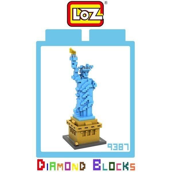 LOZ 迷你鑽石小積木 樂高式 紐約 自由女神 系列 益智玩具 組合玩具 原廠正版 世界建築系列