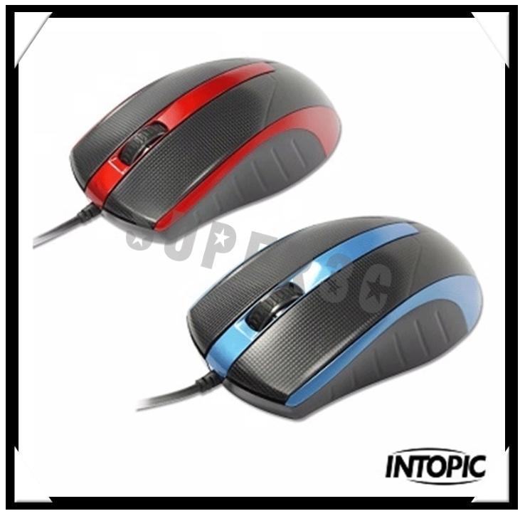 新竹【超人3C】INTOPIC廣鼎 UFO 飛碟光學鼠 MS-076 •滑鼠按鍵與兩側止滑紋路 •齒輪式滾輪設計