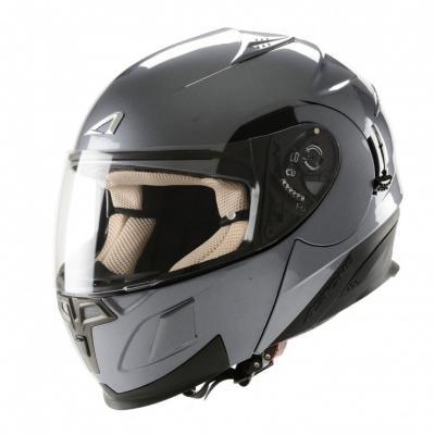 中壢安信法國ASTONE RT1000素色新鐵灰全罩式可掀式安全帽可樂帽內置墨片下巴可掀
