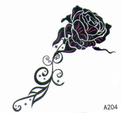 薇嘉雅   玫瑰花  超炫圖案紋身貼紙 A204