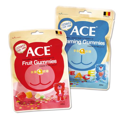 ACE 水果/字母Q軟糖 48g【新高橋藥妝】~ 2款供選 ~