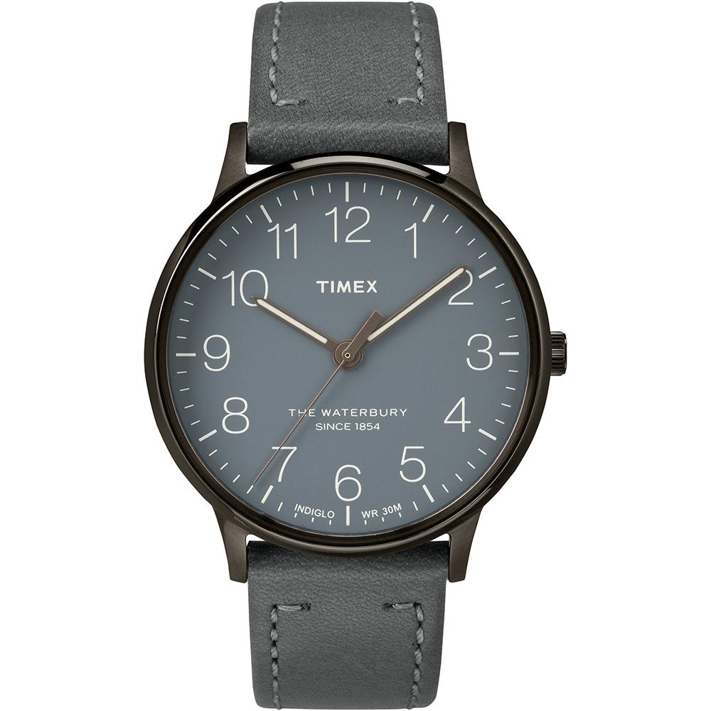 【TIMEX】天美時 Waterbury 經典系列極簡設計手錶(灰 TXT2P96000)