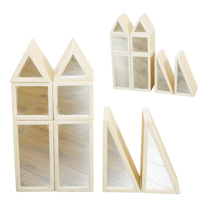 鏡子積木組華森葳兒童幼兒教具玩具遊戲社會扮演想像創造建構造型組裝積木城市模型鏡子