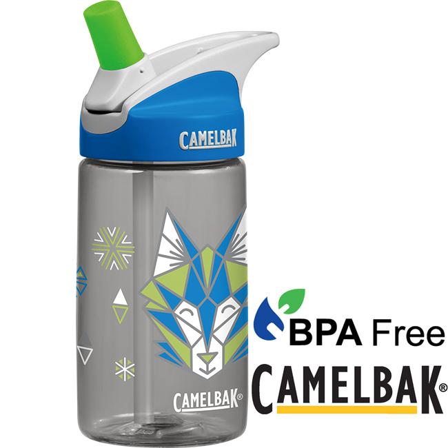 CamelBak 54179帥氣灰狼400ml兒童吸管運動水瓶