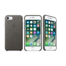 蘋果Apple iPhone 7原廠皮革護套風雲灰色全新公司貨保護殼背蓋皮套
