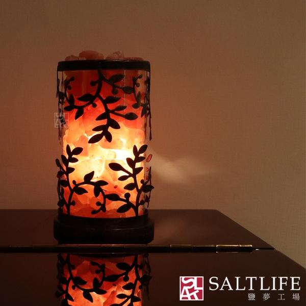 【鹽夢工場】創意系列-小葉鹽燈