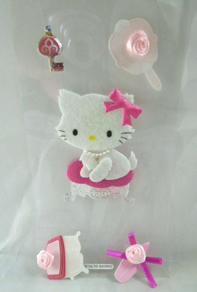 【震撼精品百貨】Charmmy Kitty_寵物貓 ~ 立體貼紙『手工製玫瑰』