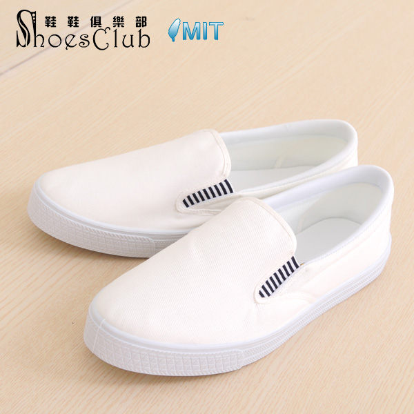 彩繪鞋親手創作自己彩繪素面帆布鞋白布鞋手繪鞋白色鞋鞋俱樂部208-N707-白