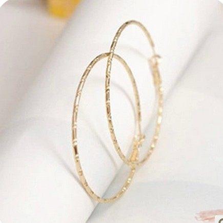 韓國大圓圈耳環簡單個性鏤空圓環耳釘耳圈B1098