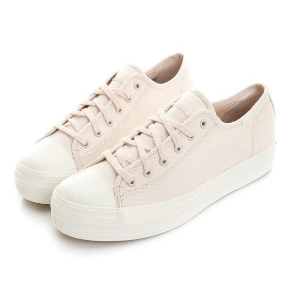 Keds TRIPLE KICK 女款粉色厚底帆布鞋 NO.9182W132461