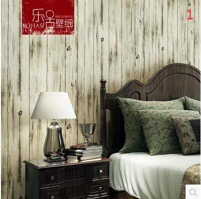 復古中式仿古木紋木板牆紙現代個性客廳臥室酒吧餐廳服裝店壁紙