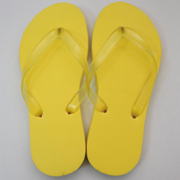 EVA素色人字拖鞋 女款-黃|台製海灘拖 台灣製 人字拖 沙灘拖 夾腳拖 拖鞋 室內室外 兩用