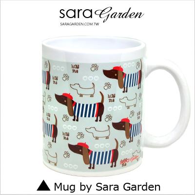 客製手作彩繪馬克杯Mug手繪插畫臘腸狗狗踏青咖啡杯陶瓷杯杯子杯具牛奶杯茶杯