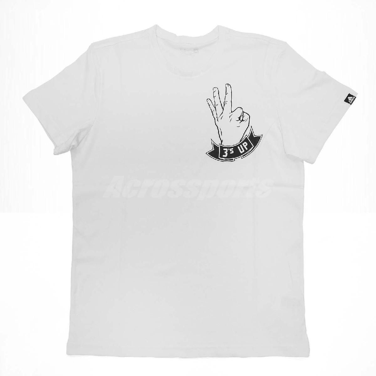 adidas T恤3s Up Hand白黑短袖上衣男款T-Shirt Tee PUMP306 S97175