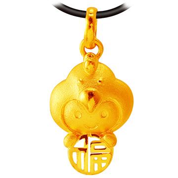 甜蜜約定金飾-福氣十二生肖雞-黃金墜子 生肖金飾 招財 開運
