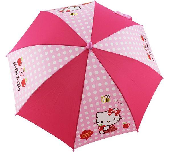 【卡漫城】Hello Kitty 兒童 雨傘 ㊣版 三麗鷗 凱蒂貓 自動直立傘 長約68cm