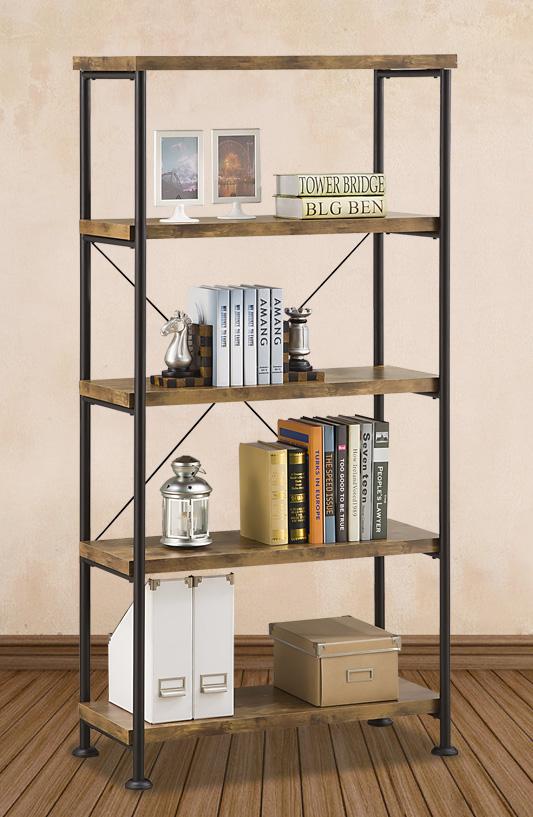 免運書櫃工業風書櫃書架DIY組合傢俱深松木色