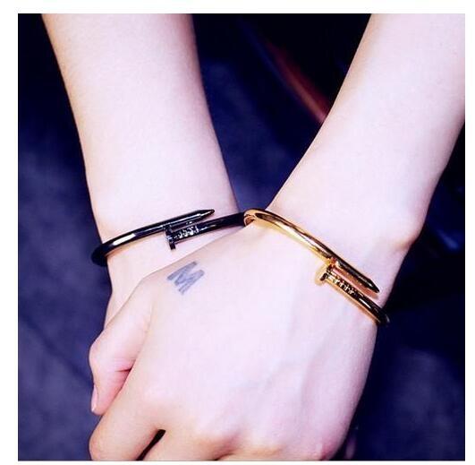 [Mini style] 手鍊 情侶流 街頭 男女 時尚 釘子 開口 手鐲 手環 送禮 簡約 時尚 流行 韓版 個性