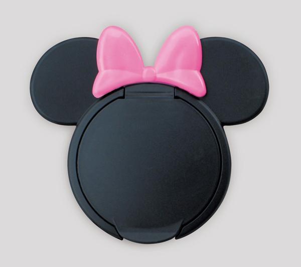 日本 迪士尼 Disney 米妮重覆黏貼濕紙巾專用盒蓋/濕巾蓋-粉x黑[衛立兒生活館]