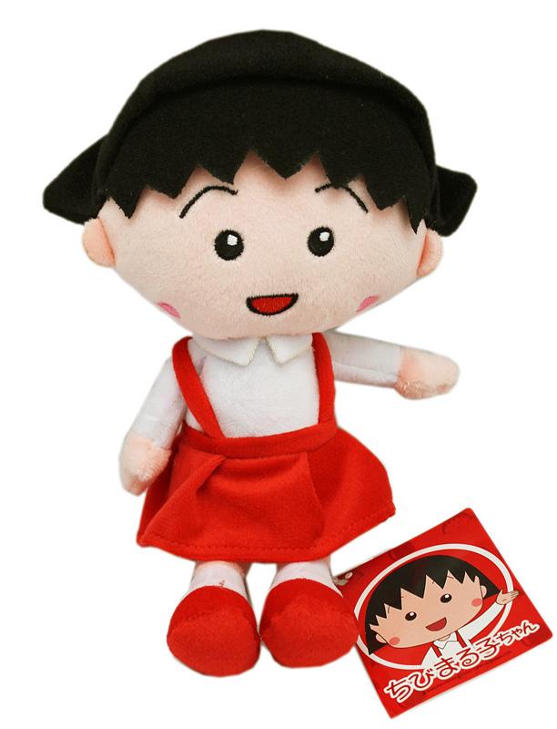 卡漫城櫻桃小丸子玩偶22cm版日本Chibi Maruko Chan絨毛娃娃房間擺飾布偶