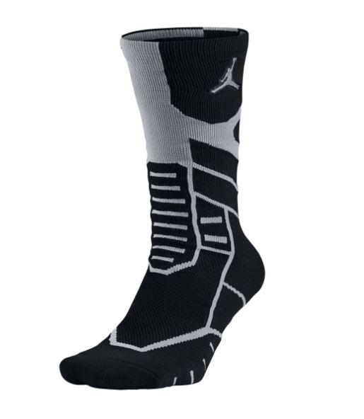 NIKE JORDAN JUMPMAN FLIGHT CREW襪子中筒籃球黑灰運動世界642210-022