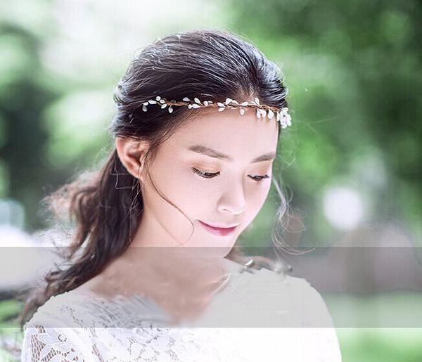 仿真漿果清新簡約花環森女飾品婚紗攝影寫真拍照道具發飾(光板藤編)花環─預購CH1720