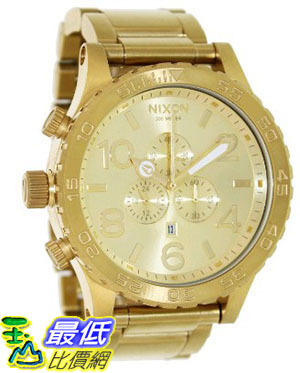 105美國直購Nixon Men s男士手錶51-30 Chrono A083502 Gold Stainless-Steel Quartz Watch