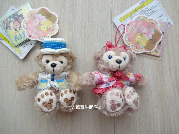 草莓牛奶屋日本進口東京海洋迪士尼達菲熊Duffy&ShellieMay絨毛手機吊飾春限定版