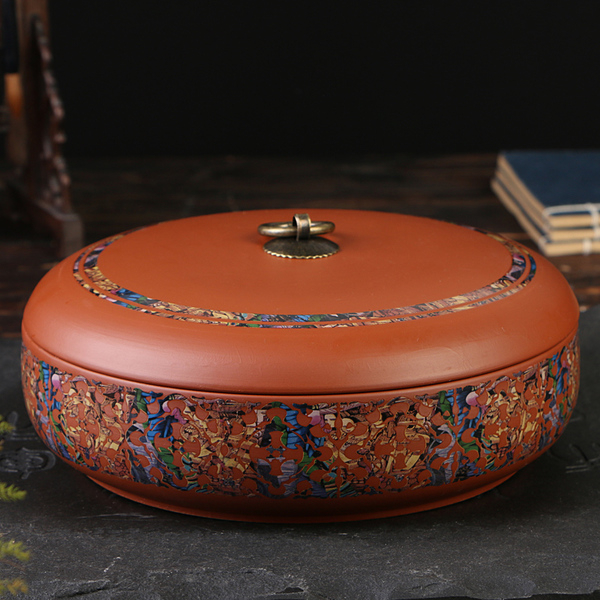 紫砂陶瓷茶葉罐大號密封茶葉罐存茶罐普洱餅醒茶葉包裝禮盒預購CH1188