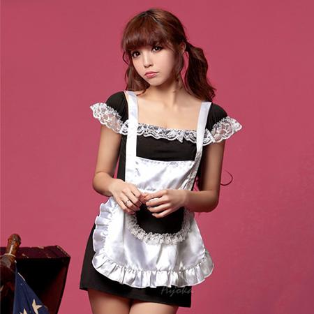 小蓋袖二件式女僕角色扮演服角色扮演cosplay性感內衣情人節禮物SV8210快樂生活網