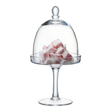 英國LSA Cake Stand Dome 15cm Serve風味系列高腳玻璃蛋糕皿